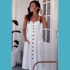 Beautiful casual dresses - 47 Beautiful Casual Dress Ideas for Women Beautiful Casual Dresses, Cute Dresses, White Dress Casual, Simple Dresses, Midi Dresses, Elegant Dresses, Sexy Dresses, White Boho Dress, White Dress Summer
