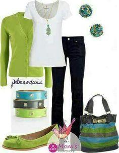 Verde limon, Negro y Blanco