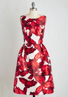 All is Palm Dress in Ruby, #ModCloth