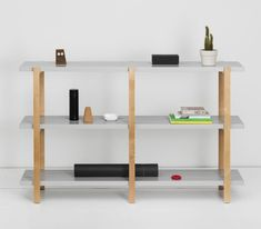 """Our shelving units for the YPPERLIG collection by HAY x IKEA. With a structure made of folded metal…"""