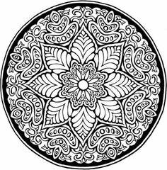 Mandala disegno da colorare gratis 181