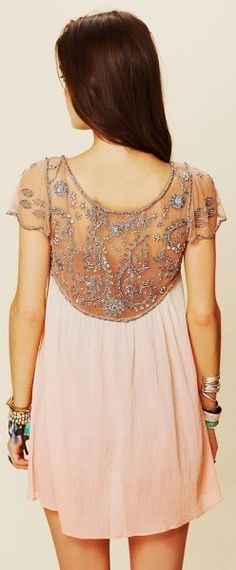 Embellished lace detail lovely dress
