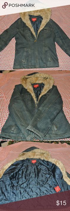 Vintage Esprit Jean Jacket SUPER WATM and fashionable. Size small. ESPRIT Jackets & Coats Jean Jackets