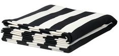 Brand new EIVOR black and white knit striped throw blanket travel rug afghan from IKEA of Sweden. Beautiful bold b/w stripe pattern. Throw Blankets, Ikea Must Haves, Black White Stripes, Black And White, Ikea Shopping, White Throws, Knitted Throws, Bathing, Living Room