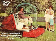 Futuristic 1950s Lawn Mower