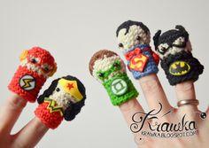 Superhero Finger Puppets free crochet pattern - 10 Free Crochet Super Hero Patterns