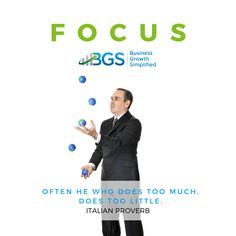 As an #entrepreneur you juggle a lot of balls. BUT, are you disciplined enough to focus on the right balls for your #business #success?