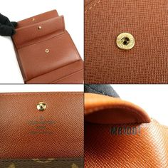 e47f577a095 Authentic LOUIS VUITTON Monogram Portefeuille Alexandra Wallet M60047 Used  F/S - dct-ep_vintage