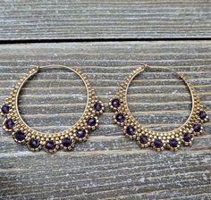 Seed Bead Earrings, Gemstone Earrings, Beaded Earrings, Earrings Handmade, Seed Beads, Beaded Bracelets, Hoop Earrings, Green Earrings, Copper Jewelry