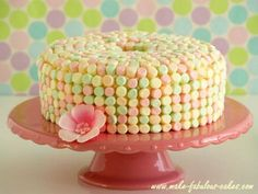 Angel food cake, icing, and marshmallows. Super easy Easter cake.
