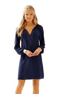 Lilly - Roslyn Tunic Dress, silk. Color: Navy. Size: XS. $258 (haven't tried on)