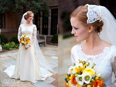 #wedding #dress #sleeves #lace #long #veil