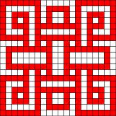 Celtic Knot Perler Bead Pattern / Bead Sprite