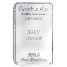 Baird Mint 1/2 Ounce Rhodium Bar