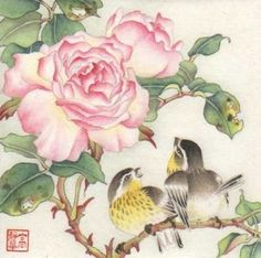 """Garden Romance"" - Original Fine Art for Sale - © Jinghua Gao Dalia"