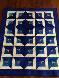 Radiant Quilt (via Craftsy member Ginny Flock) This Radiant Quilt from Cozy Quilt Designs and RJR Fabrics, The Tutorial is available for free. Full Post: Radiant Quilt Tutorial