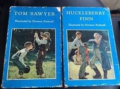 Tom-Sawyer-Huckleberry-Finn-By-Mark-Twain-Heritage-Press-Norman-Rockwell-1936