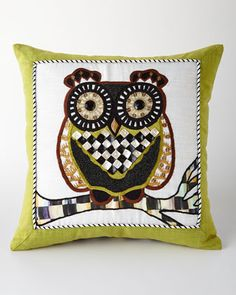 Owl Pillow by MacKenzie-Childs at Neiman Marcus.