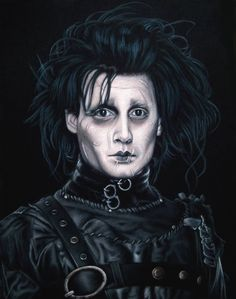 """Supersonic Art: Bruce White's """"Cult of Personality. Dark Fantasy, Fantasy Art, Scissors Hand, Velvet Painting, Cult Of Personality, Johnny Depp Movies, Beautiful Sketches, Edward Scissorhands, Makeup Looks"""