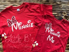 Minnie and Minnie Me Shirts | Mom and daughter Shirts | Mom and daughter Disney Shirts | Matching Mother Daughter Shirts | Minnie Mouse by LittleBsBowsNThings on Etsy https://www.etsy.com/listing/491507168/minnie-and-minnie-me-shirts-mom-and