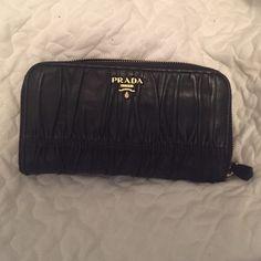 7c8b69c6289 Prada Nappa gaufre Wallet Lambskin prada wallet. One of my favorite pieces  but since I