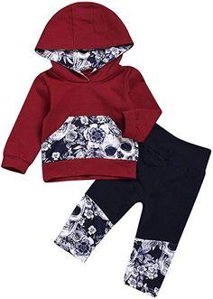 6e16bb399045 Amazon.com: Vovotrade 2Pcs Toddler Baby Girls Boys Adorable Sweatshirt  Flower Skull Bone Hooded