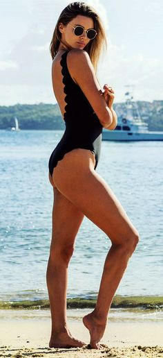 Excited for the beach seasons? Update your swimsuit collection by adding this amazingly gorgeous black solid bikini.