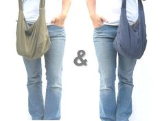 Hobo Bag Reversible Large Purse Cross Body by SmiLeaGainCreations, $36.00