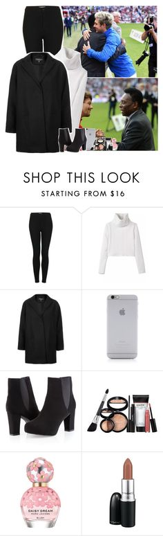 """""""Meeting Pelé at Soccer Aid game with Niall and Louis"""" by fxrever-isnt-for-everyone ❤ liked on Polyvore featuring Topshop, Native Union, Ashley Stewart, Laura Geller, Marc Jacobs and MAC Cosmetics"""