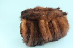vintage fur hand muff/purse