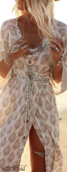 ╰☆╮Boho chic bohemian boho style hippy hippie chic bohème vibe gypsy fashion indie folk the . Gypsy Fashion, Look Fashion, Womens Fashion, Dress Fashion, Trendy Fashion, Fashion Clothes, Trendy Style, Style Clothes, Fashion Outfits