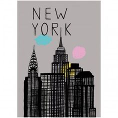 #design3000 Poster New York - Städteposter im Vintage-Look.