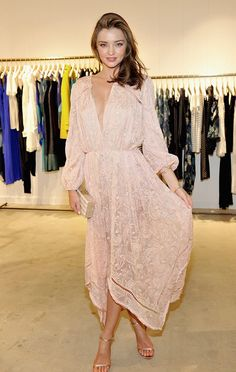 Miranda Kerr \u0026amp; January Jones Get Dressy for Zimmermann Summer Cocktail Party: Photo Miranda Kerr is pretty in pink while stepping out for the Zimmermann ...