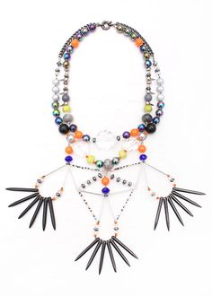 Stand out in the masterful, hand crafted Artemis statement necklace for Aztec style chic. An original pendant with three geometric teardrop adorn the piece. Jade Crystal, Design Your Own Jewelry, Tassel Necklace, Statement Necklaces, Orange Grey, Artemis, Quartz, Pearls, Chain