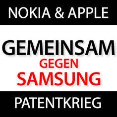 Nokia & Apple gemeinsam gegen Samsung - http://j.mp/Z0Mav3