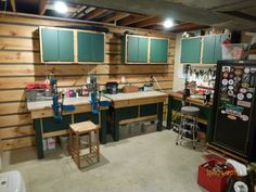 Man Cave Reloading Room in garage.