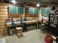 Man Cave Reloading Room in garage.