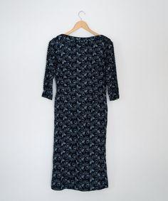 Vintage 1950s Floral Sketch Wiggle Dress by OrthopteraVintage