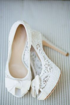 Wedding Pictures | WeddingSeason.com Lace wedding shoes