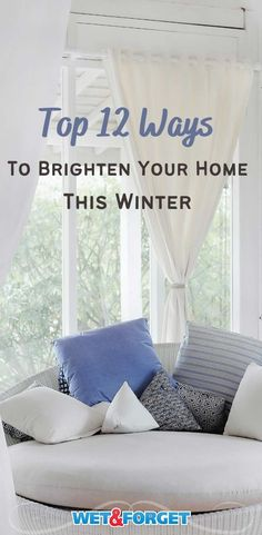 Brighten your home this winter with these simple steps! Large Indoor Plants, Gold Picture Frames, Messy Room, Dark Interiors, Tiny Spaces, Awesome Bedrooms, House Layouts, Stain Colors, Diy Home Improvement