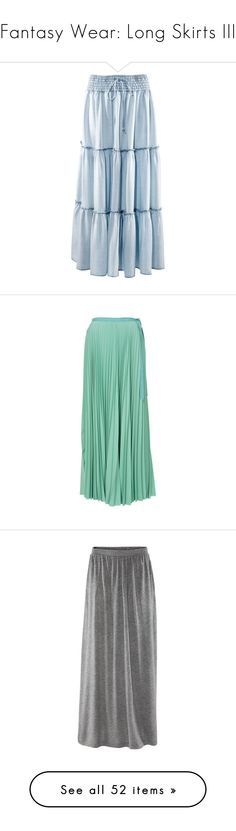 """Fantasy Wear: Long Skirts III"" by savagedamsel ❤ liked on Polyvore featuring skirts, women, long flared skirt, blue skirt, long skater skirt, circle skirt, long blue skirt, bottoms, saias and maxi skirts"