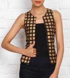 Black Printed Cotton Silk Jacket