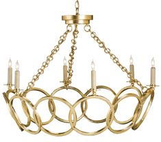 Orli Chandelier Lighting | Currey and Company--Other finishes?  Center  Hall - 2nd Floor