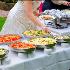 wedding buffet table set up