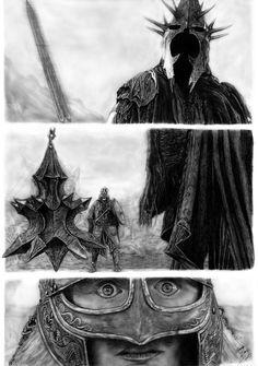 Witch King vs Eowyn by Eduardo Leon de Camargo [©2013]