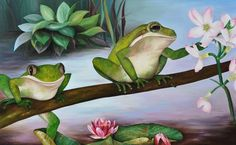 Gentle and Green 75 x 120 cm.
