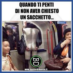 Voglio un #sacchetto ! Seguici su youtube/bastardidentro #bastardidentro #perfettamentebastardidentro #metro www.bastardidentro.it