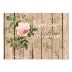 Rose of Orleans Ecru Wedding Invitation Card