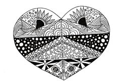 Inspired by a soulmate heart locket, this FREE coloring page is just perfect to celebrate your love for your significant other! #FaveCrafter #coloring #adultcoloring