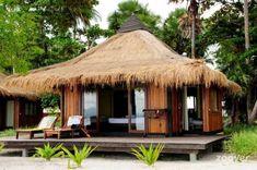 Photos and Holidayphotos for Hotel Koh Mook Sivalai Beach Resort*** (Koh Mook / Koh Muk (Trang) Thailand Thailand) - Your holiday starts at Zoover! Hut House, Bali House, Tiny House Cabin, Bamboo House Design, Tropical House Design, Tropical Houses, Beach Bungalows, Beach Resorts, Style Bali